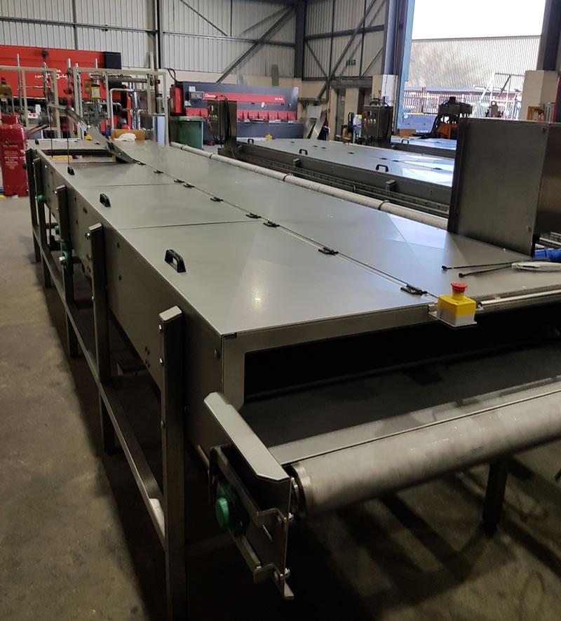 Crust Hardening Conveyor by Jackstone Freezing Systems
